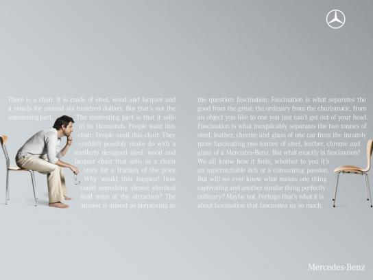 Mercedes Print Ad -  Chair