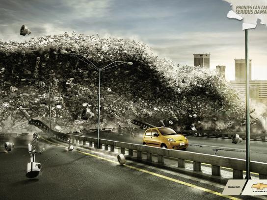 Chevrolet Print Ad -  Tsunami