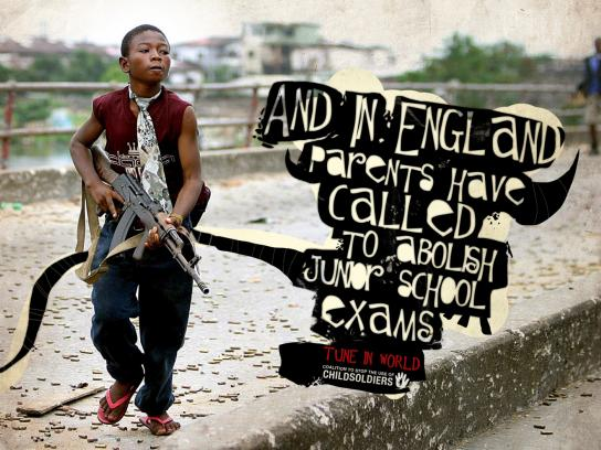 Coalition to Stop the Use of Child Soldiers Print Ad -  England