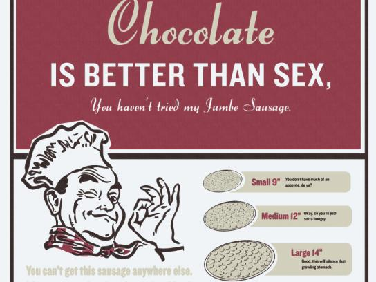 Butch's Pizza Print Ad -  Chocolate