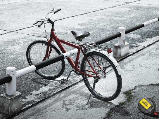 Clima Bicycle Lock Print Ad -  Red