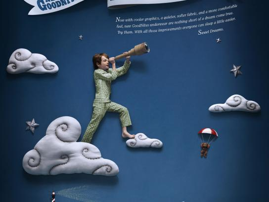 GoodNites Print Ad -  Cloud