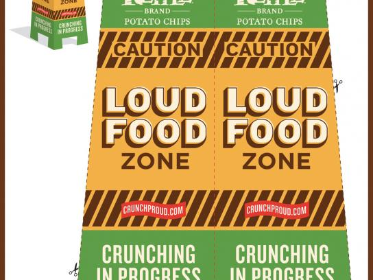 Kettle Print Ad -  The Loud Food Club, Caution sign