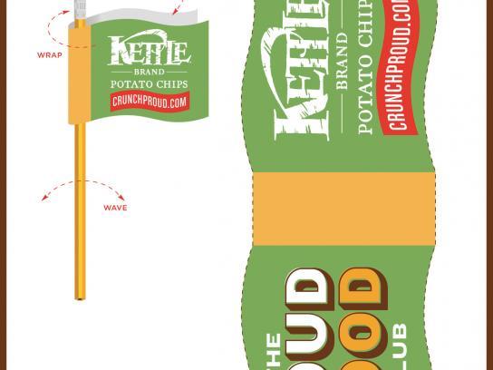 Kettle Print Ad -  The Loud Food Club, Flag