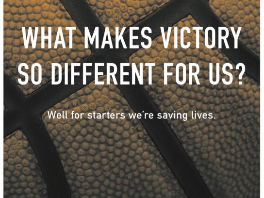 Coaches vs. Cancer Print Ad -  Saving lives