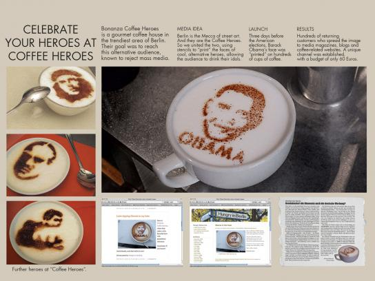 Coffee Heros Ambient Ad -  Celebrate your heros
