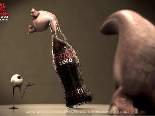 Coca-Cola Zero Print Ad -  Stuck