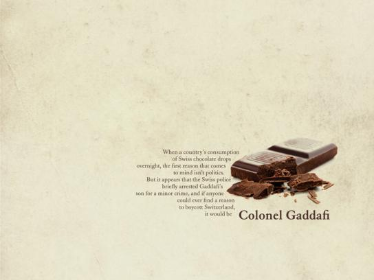 The Times Print Ad -  Colonel Gaddafi