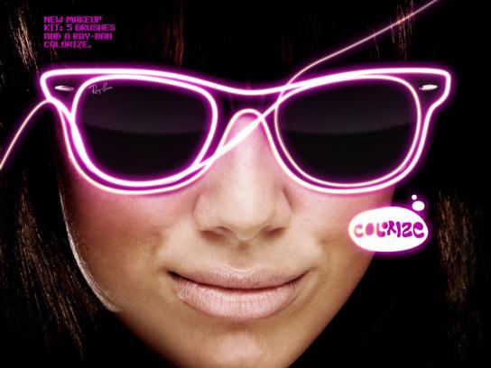 Ray-Ban Print Ad -  Pink