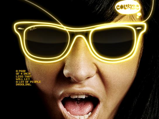 Ray-Ban Print Ad -  Yellow
