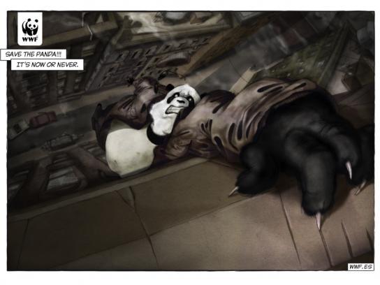 WWF Print Ad -  Comic Noir, Panda