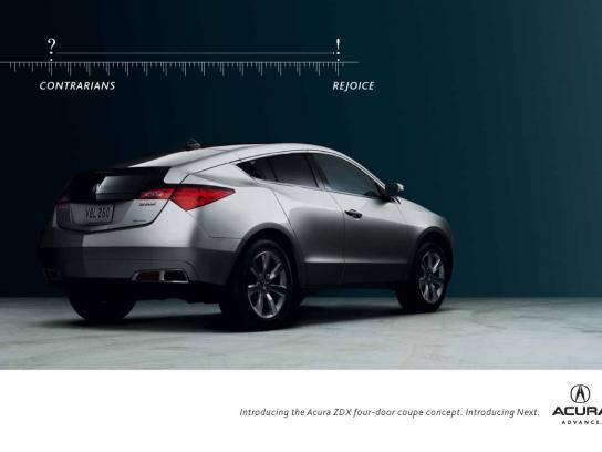 Honda Print Ad -  Contrarians Rejoice