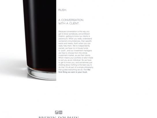 Brewin Dolphin Print Ad -  Conversation