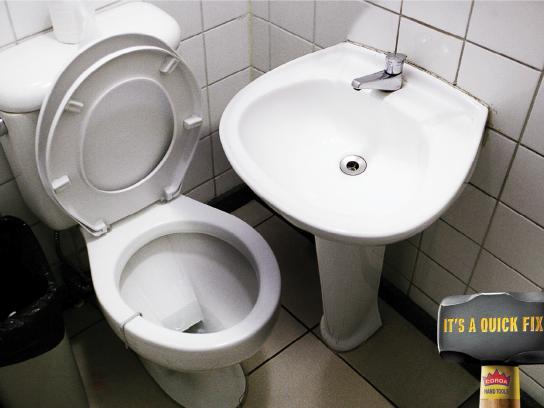 Coroa Print Ad -  Sledgehammer, Toilet