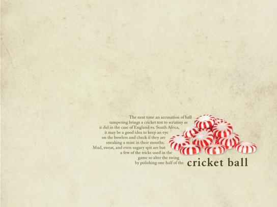 The Times Print Ad -  Cricket Ball