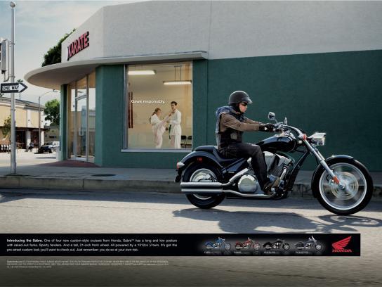 Honda Print Ad -  Karate