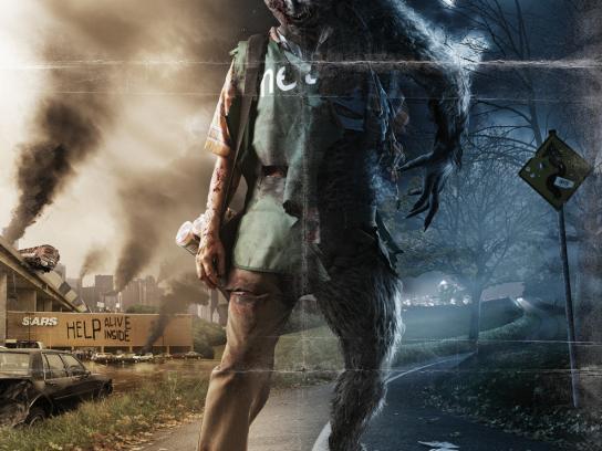 Metro Print Ad -  D2D Zombie
