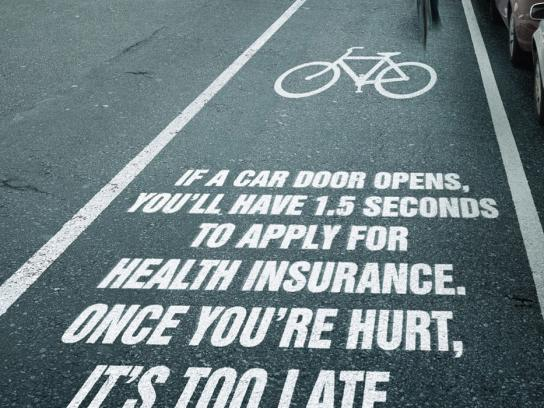 Pacific Blue Cross Print Ad -  Bike Path