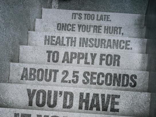 Pacific Blue Cross Print Ad -  Stairs
