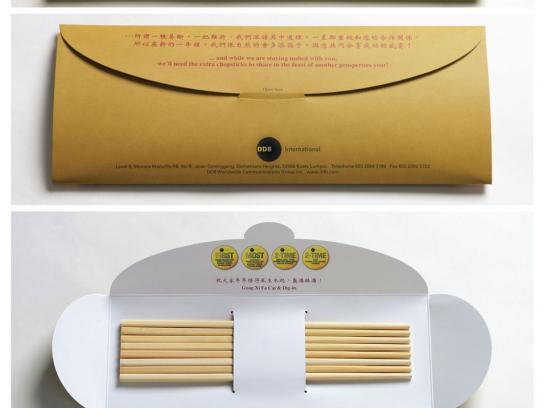 Chinese New Year Direct Mail, Chopsticks