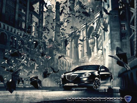 Lancia Print Ad -  Batman