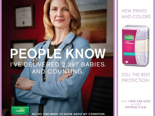 Depend Print Ad -  People Know, Female