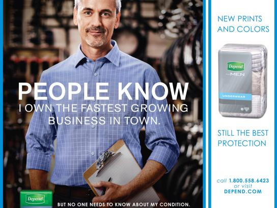 Depend Print Ad -  People Know, Male