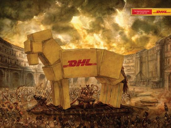 DHL Print Ad -  Trojan Horse