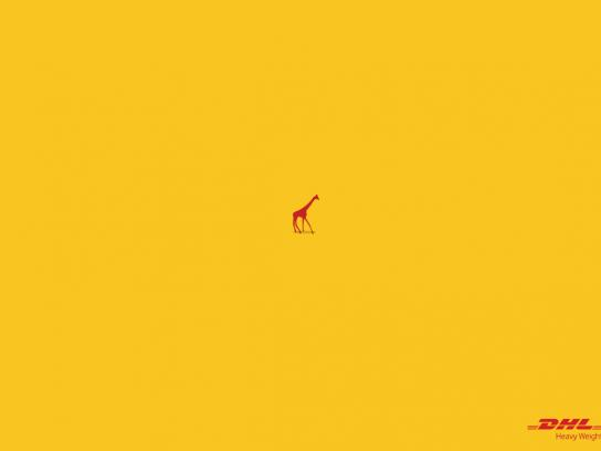 DHL Print Ad -  Giraffe