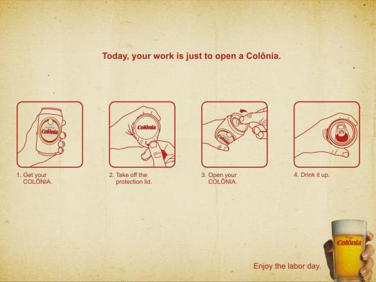 Beer Colônia Print Ad -  Labor day