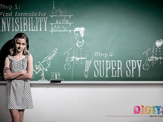 Digits Print Ad -  Super spy