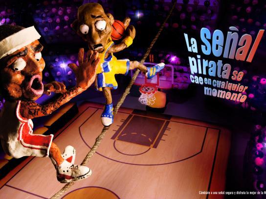 DIRECTV Print Ad -  Basketball