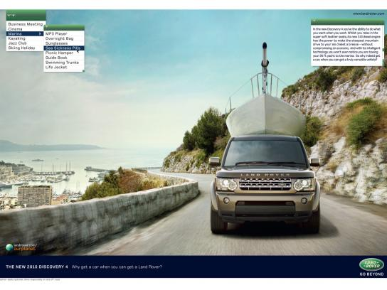 Land Rover Print Ad -  Yacht