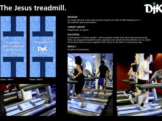 DJK Ambient Ad -  The Jesus treadmill