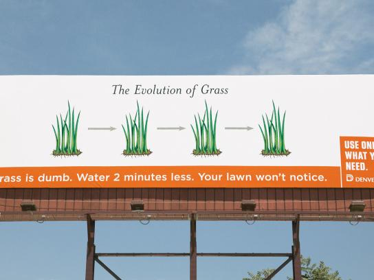 Denver Water Outdoor Ad -  Evolution