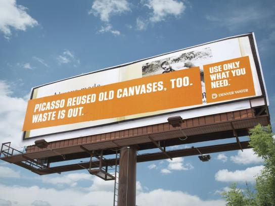Denver Water Outdoor Ad -  Picasso