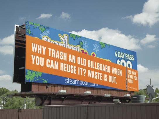 Denver Water Outdoor Ad -  Why trash