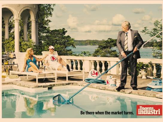 Dagens Industri Print Ad -  Pool