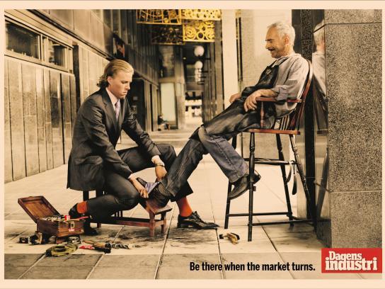 Dagens Industri Print Ad -  Shoe cleaner