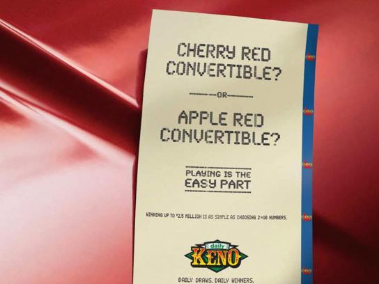 Daily Keno Print Ad -  Convertible
