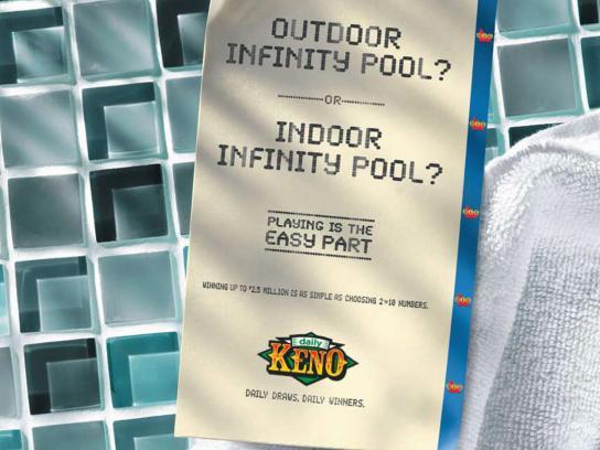Daily Keno Print Ad -  Pool