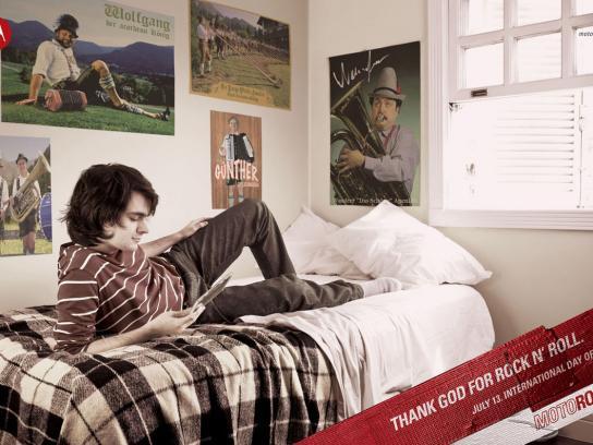 Motorola Print Ad -  Day of Rock, Posters