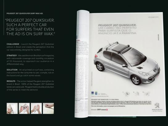 Peugeot Print Ad -  Wax ad