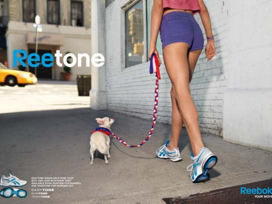 Reebok Print Ad -  Dog blue