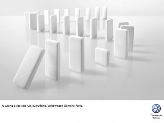 Volkswagen Print Ad -  Domino