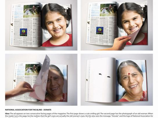 National Association for the Blind Print Ad -  Donate eyes, magazine cut-out