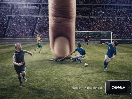 Canal+ Print Ad -  iPhone, Football