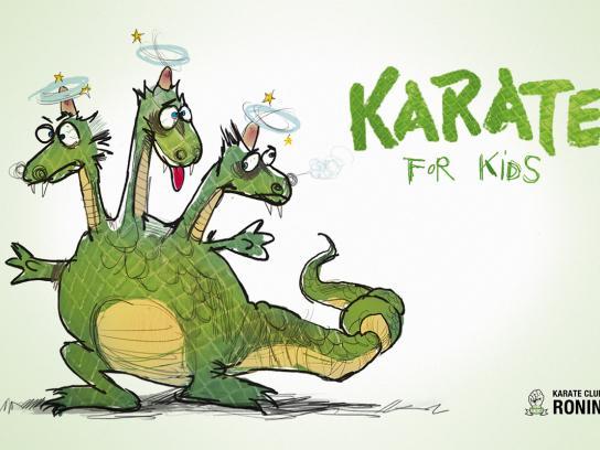 Karate Club Ronin Print Ad -  Dragon