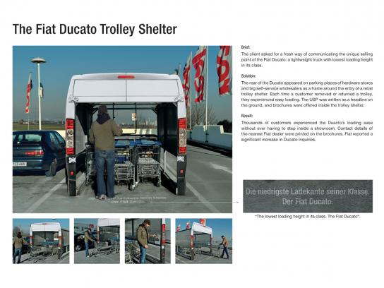 Fiat Ambient Ad -  Trolley shelter