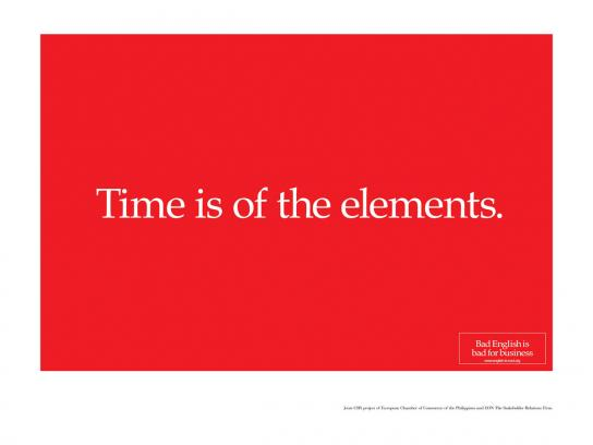 Time is of the elements